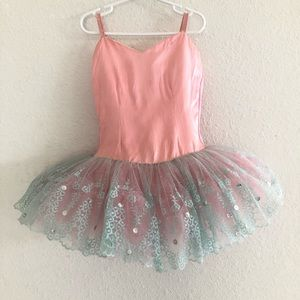 Other - Girls Pink Blue Spaghetti Straps Ballet Dress
